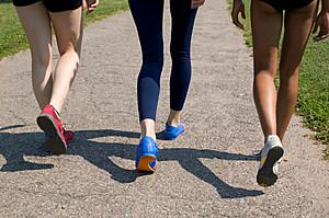 Group of woman walking